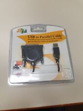 New USB to Parallel Cable DB25 Female Port SYBA NIB