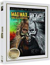 MAD MAX FURIA EN LA CARRETERA 2 BLU RAY SLIPCOVER BLACK CHROME ( SIN ABRIR )