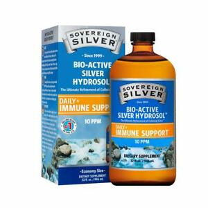 Sovereign Silver Bio-Active Silver Hydrosol for Immune Support - 10 ppm - 32oz