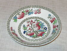Johnson Brothers Indian Tree Fruit or Dessert Bowl Cream with Green Greek Key