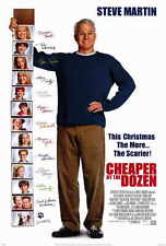 CHEAPER BY THE DOZEN Movie POSTER 27x40 Steve Martin Bonnie Hunt Tom Welling