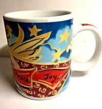Starbucks Ceramic Home for the Holidays Coffee Tea Mug Cup Peace Joy Mary Graves