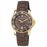 Victorinox Maverick GS Quartz Movement Brown Dial Ladies Watch 241615