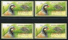 ISRAEL 2015 ATM Chukarsteinhuhn Fasane Vögel Birds Uccelli Oiseaux ** MNH