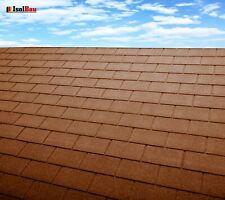 Dachschindeln 18 m? Rechteck Form Braun (6 Pakete) Schindeln Dachpappe