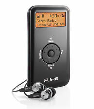 Pure Move 2520 Portable Pocket Personal DAB Radio Digital FM Rechargable Black