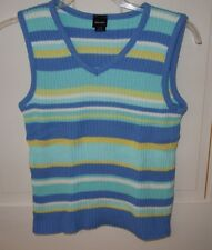 XHILARATION Striped Sleeveless Top - SZ M - NWOT