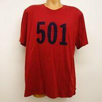 New Levi's Mens 501 Screenprint Logo Crewneck Short Sleeve Tee T-Shirt Sz XXL