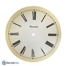 New 10'' Forestville Cream Card Clock Dial Face Black Roman Numerals