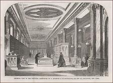 APPLETON & CO BOOKSTORE, BROADWAY, NEW YORK, Interior View, antique 1854