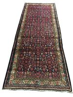 """Old Hand Knotted wool rug 675a 3'6""""x9'4"""""""