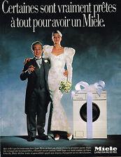 PUBLICITE ADVERTISING 124  1988  MIELE   machine à laver lave linge