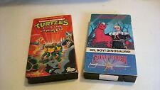 Saber Rider and the Star Sheriffs Teenage Mutant Ninja Turtles VHS 2 Tape Lot