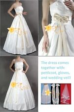 Big Bow Wedding Dress Bridal Gown New (Size: M )