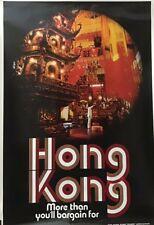 Vintage Original Travel Poster HONG KONG Mid Century