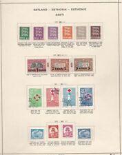 1918/1940 ESTONIA/ESTLAND/ESTHONIA, collection on 11 sheets  MLH/* (FEW USED)