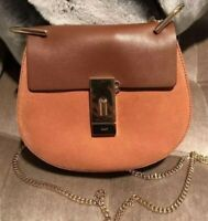 Authentic Chloe Drew Small Chain Shoulder Bag Brown NWT $1850