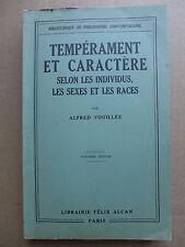 Tempérament et caractère selon les individus, les sexes et les races  /  1935