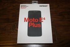 Verizon Wireless Prepaid Moto E4 Plus Black Touchscreen Smartphone 13MP Camera