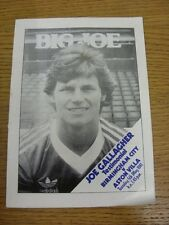05/05/1981 Birmingham City V Aston Villa & BBC Pebble MILL PIRATES V Gary newbons
