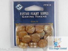 20 FANTASY FLIGHT GOLD GAMING CHIPS TOKENS FOR GAME OF THRONES POKEMON MTG