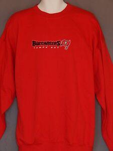 New Tampa Bay Buccaneers Football Pullover Sweatshirt Top Red Big Men's Size 3XL