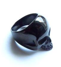 Biker Ladies Skull Ring - Stainless Steel Black Gothic Horror Girl's Jewellery
