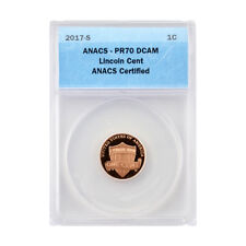 2017 Shield Cent - San Francisco Mint Proof - Certified ANACS PR70