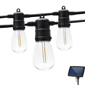 Shatterproof Outdoors LED Solar Light Street Garland Bulbs String Plastic Lamp