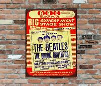 "THE BEATLES(1)10x8"" Retro Metal Concert Poster Sign Plaque Wall Art Pic (2)"