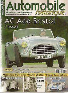 AUTOMOBILE HISTORIQUE 31 AC ACE BRISTOL GP BELGIQUE 1954 PETER COLLINS ATS 63