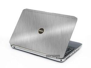 BRUSHED ALUMINUM Vinyl Lid Skin Cover fits Dell Latitude E5520 Laptop