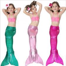Nuevo niños Chicas Sirena Cola Monofin trajes de baño vestido de fiesta de lujo