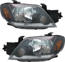 Headlights Headlight Assembly w/Bulb NEW Pair Set for 03-04 Mitsubishi Outlander