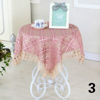 Retro Floral Lace Tablecloth Coffee Dining Round Square Table Cover Modern Decor
