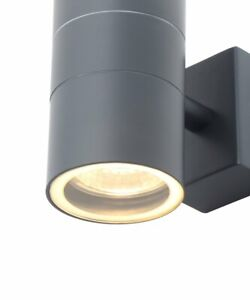 Zinc Outdoor Forum Leto 20941-ANTH Anthracite Grey Up Down Outdoor Wall Light