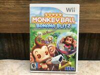 Super Monkey Ball Banana Blitz Sega Nintendo Wii Video Game NO MANUAL Tested