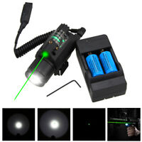 Tactical LED 300LM Flashlight Green/Red Laser Sight Combo for 20mm Gun Rifles