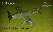 Focke Wulf Fw 190 L-0 (DB 601) 1/72 Bird Models Umbausatz / Resin conversion kit