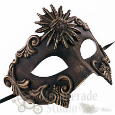 Mens Greek Roman Sun God Warrior Costume Venetian Masquerade Ball Mask [Gold]