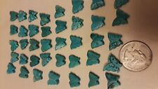 40 Turquoise/magnesite Carved Butterfly Gemstone Beads