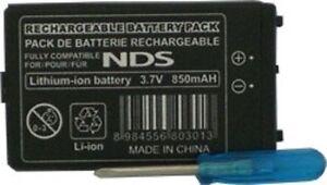 Batterie pour Nintendo DS 850 mah + tournevis DS FAT NTR-001