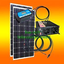 Compact 260watt Installation Autonome Module Solaire, Régulateur,
