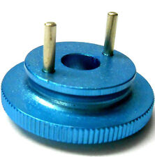 L4267 1/10 or 1/8 Scale RC Nitro Engine 2 Shoe Pin Clutch Flywheel Alloy Blue