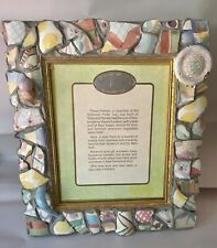 "AUTHENTIC MACKENZIE CHILDS PUTTY JUG SHARD PICTURE FRAME 8"" X 10"" EXCELLENT!"