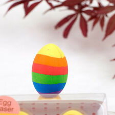 2Pcs/box Colorful Lovely Eggs Eraser Soft Rubber Kids Gift School Stationery