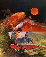 Vintage Frank Frazetta Art TARZAN ANT MEN 1972 Full Color Plate Antelope Spear