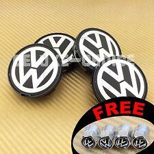 SET OF 4 CAR ALLOY WHEEL RIM CENTER LOGO CAP HUB 63mm VW VOLKSWAGEN US SELLER