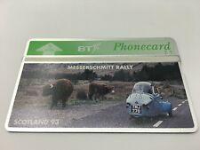 MESSERSCHMITT RALLY SCOTLAND 93 BT PHONECARD