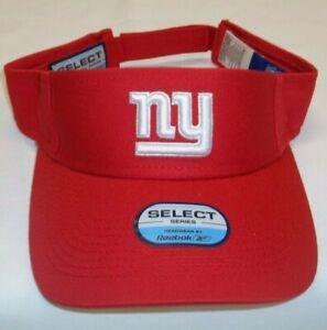 Reebok New York Giants Adjustable Select Series Visor - Adult One Size - New